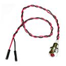 Светодиод в металлическом корпусе (красный) с проводом